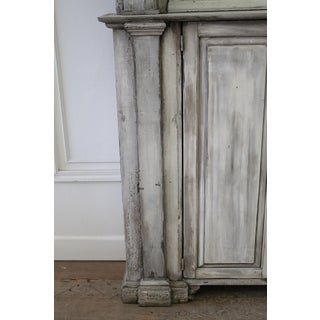 Antique Primitive Style 2 Part Display Cabinet Preview