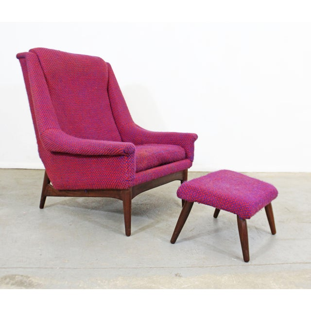 Mid-Century Danish Modern Ohlsson Style Bramin Teak Easy Lounge Chair & Ottoman For Sale - Image 13 of 13