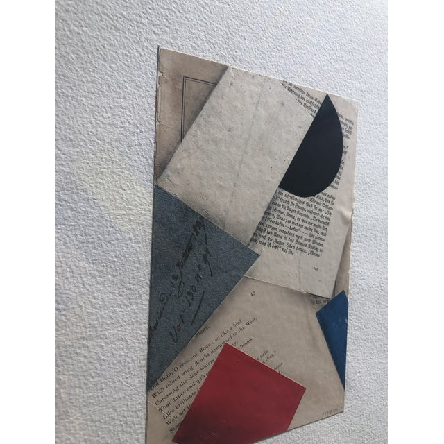 """Paper Contemporary """"FS3197ct12"""" Collage by Cecil Touchon For Sale - Image 7 of 8"""