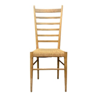 Gio Ponti Ladder Back Rope Seat Chair For Sale