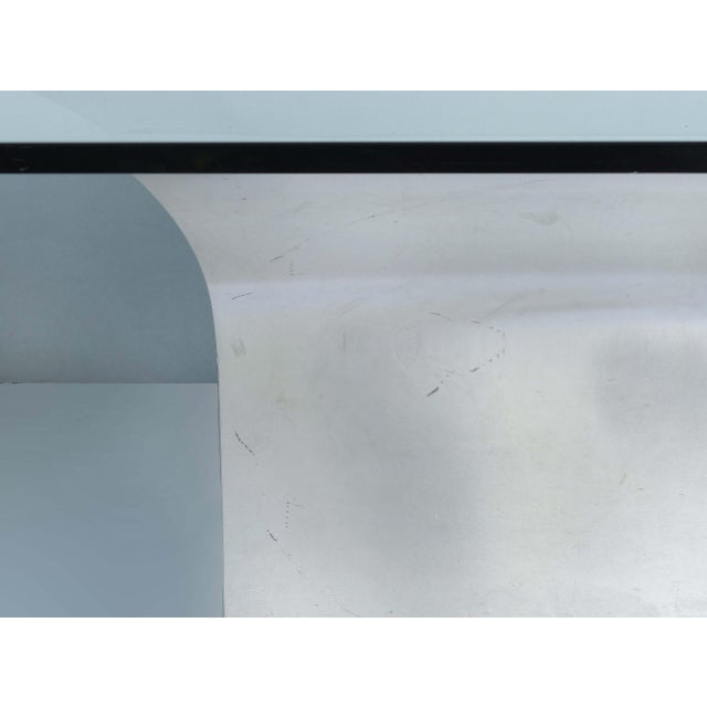 Sally Sirkin Lewis for J. Robert Scott Stainless Steel and Glass Dining Table For Sale - Image 9 of 12