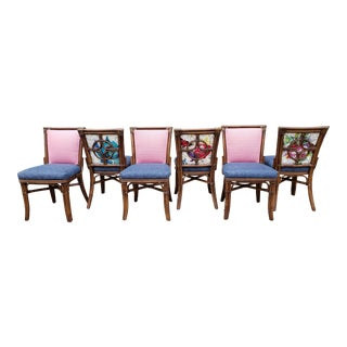 Palecek Bamboo Dining Chairs-Set of 6 For Sale