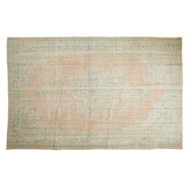 "Vintage Distressed Oushak Carpet - 6'4"" X 9'10"" For Sale - Image 12 of 12"