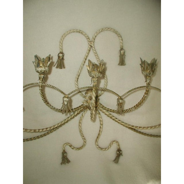 Italian Antique Early 1900's Italian 7 Candle Candelabra Sconce For Sale - Image 3 of 7