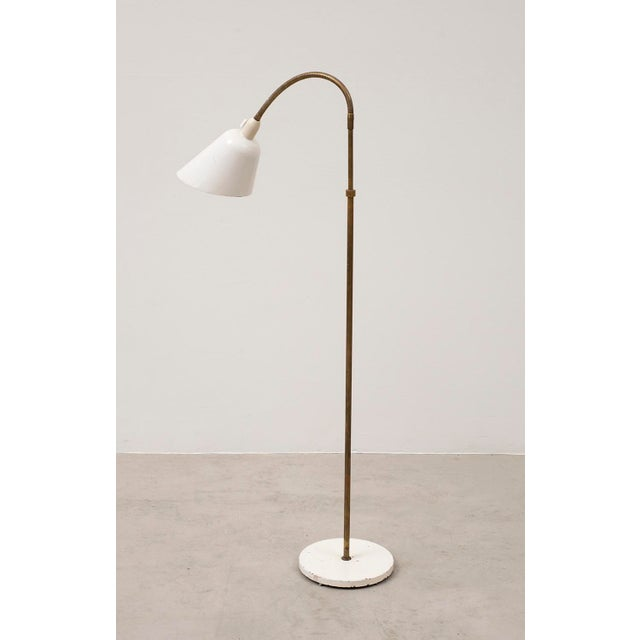 Mid-Century Modern Arne Jacobsen Early Floor Lamp for Louis Poulsen, Denmark, 1929 For Sale - Image 3 of 10