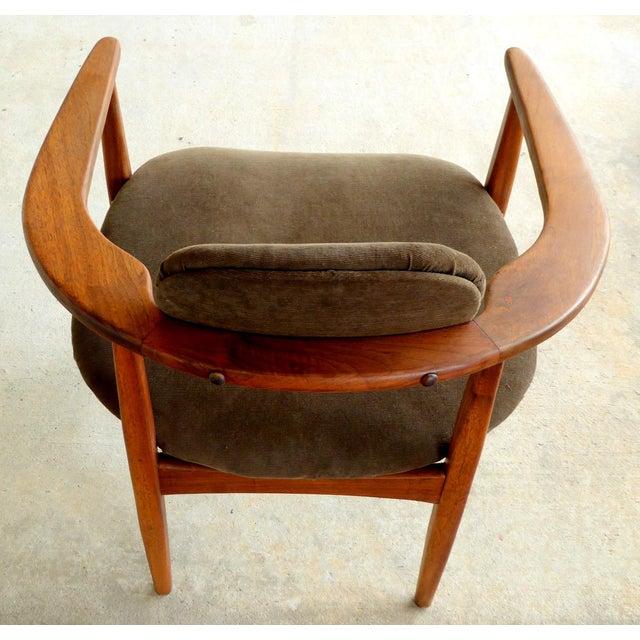 Brown Adrian Pearsall Armchairs - A Pair For Sale - Image 8 of 10