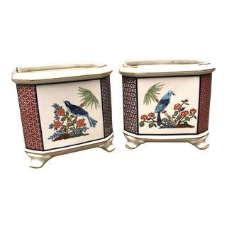 1950s Vintage Ceramic Planters Pots- a Pair For Sale