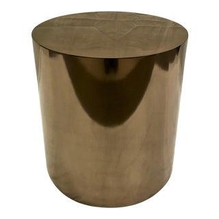 Bronze Metal Cylinder Table/Pedestal For Sale