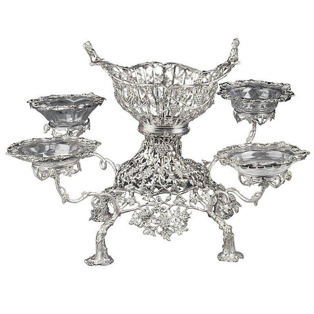 Georgian George III Silver Epergne For Sale - Image 3 of 3