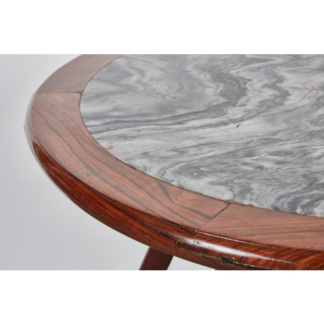 Late 19th Century Chinese Round Rosewood Folding Table For Sale - Image 4 of 8