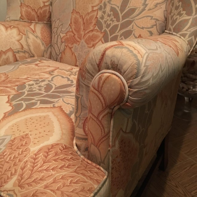 20th Century George III Style Wingback Chair For Sale - Image 4 of 5