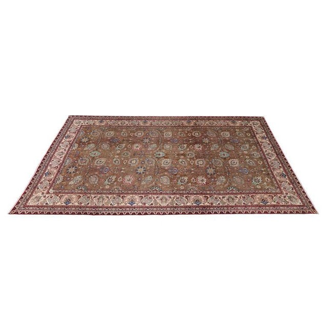 Vintage Persian Tabriz Gallery Rug with Arabesque Art Nouveau Style For Sale - Image 4 of 7
