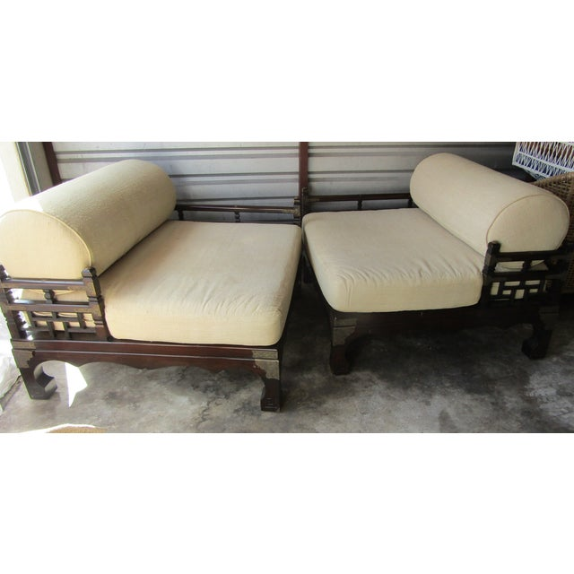 Asian 1970s Vintage Asian Style Day Bed For Sale - Image 3 of 10