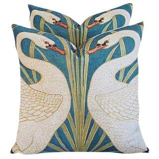 Swans Linen & Down/Feather Pillows - Pair