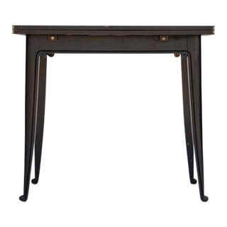 Chic Ebonized French 1940s Folding Center or Dining Table For Sale