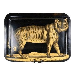 Piero Fornasetti Early Metal Tiger Tray