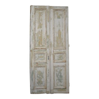 Early 20th Century Antique French Panel Doors - A Pair For Sale