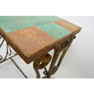 Wrought Iron Tile Top Table Preview