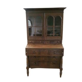 Antique Secretary Desk with Shelving
