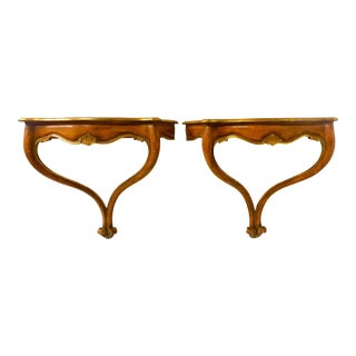Pair of Painted Italian Console Tables For Sale