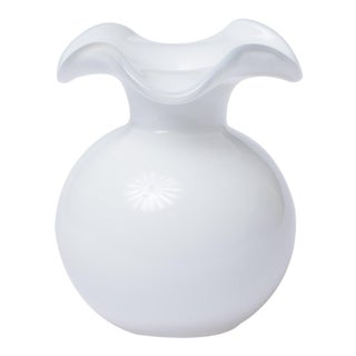 Vietri White Hibiscus Bud Vase from Kenneth Ludwig Home For Sale