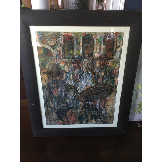 1970s Vintage Abstract Mathias Barz Original Oil Painting For Sale - Image 12 of 13