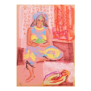 'Woman Seated' by Virginia Sevier Rogers, Post Impressionist, Fauve, Carmel, California Woman Artist, Philadelphia Academy of Fine Arts For Sale