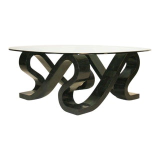 """Tessellated Stone """"Ribbon"""" Coffee table For Sale"""