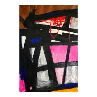 """Contemporary Abstract Acrylic, Oil Pastel, Lead and Sand on Canvas Painting """"AyeSays"""" by Nathan Paddison For Sale"""