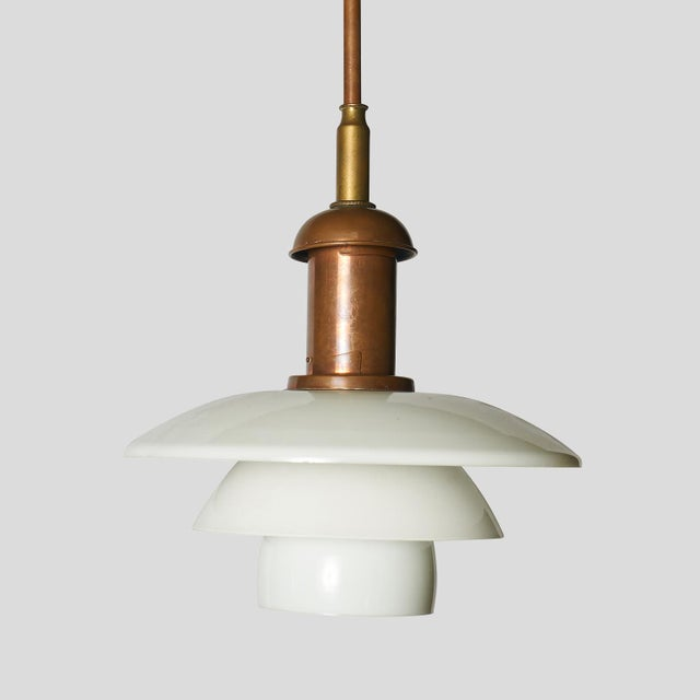 Mid-Century Modern Copper Pendant by Poul Henningsen For Sale - Image 3 of 7