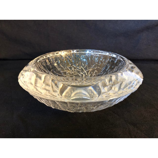 Beautiful and Heavy Art Glass Bowl by Lars Hellston for Orrefors Sweden Marked on the bottom Orrefors 4881.12 L.H