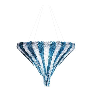 Vertigo Chandelier in Transparent and Blue Resin by Jacopo Foggini For Sale