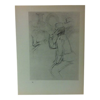 """Circa 1980 """"English Soldier With a Pipe 1898"""" Print of a Toulouse-Lautrec Drawing For Sale"""