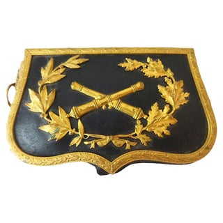 19th Century French Military Artillery Pouch For Sale