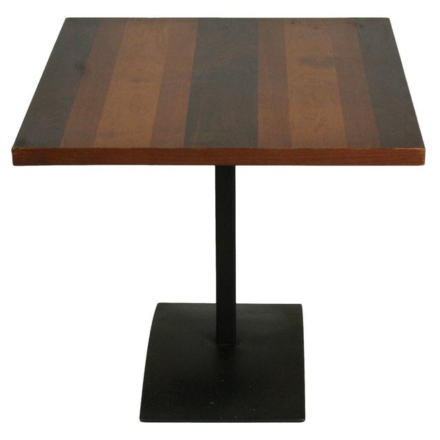 Milo Baughman Rosewood & Black Iron Occasional Table For Sale In New York - Image 6 of 7