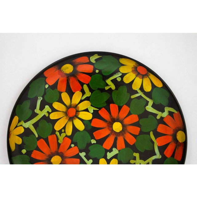 Gorgeous hand painted tray, made in Japan. Classic 1960s colors for a bold, fun pop the next time you're serving snacks.