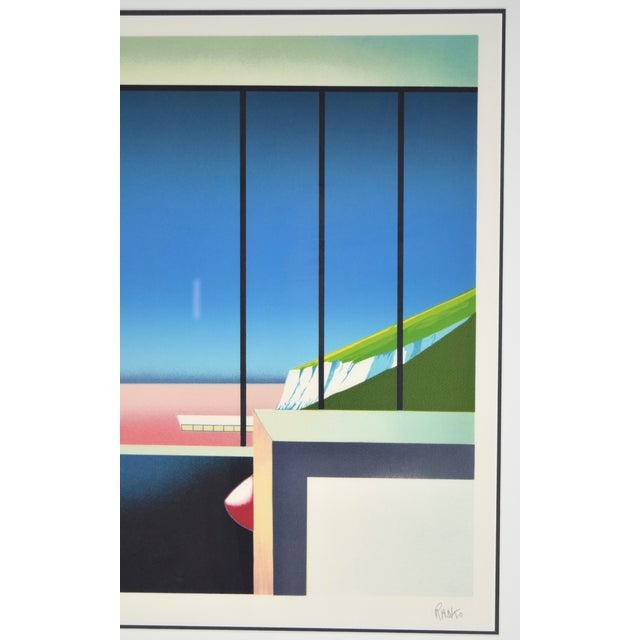 """Contemporary Vintage 1980's """"Mezzanine"""" Limited Edition Architectural Lithograph by Teddy Radko For Sale - Image 3 of 8"""