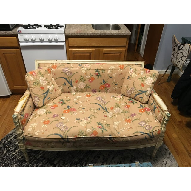 French Style Vintage Loveseat Settee - Image 2 of 8