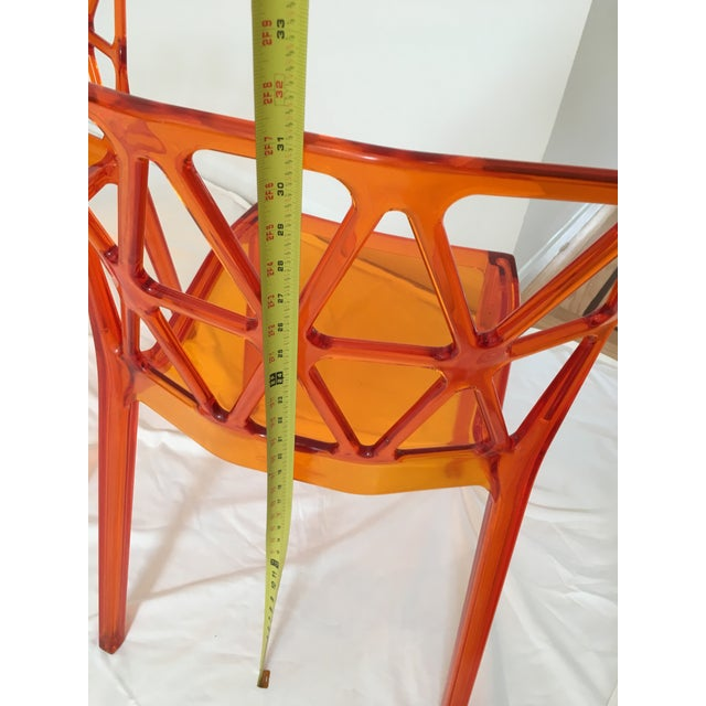 Calligaris Alchemia Dining Chairs in Orange - Set of 12 For Sale - Image 12 of 13
