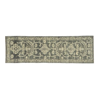 Contemporary Turkish Oushak Runner - 03'00 X 09'07 For Sale