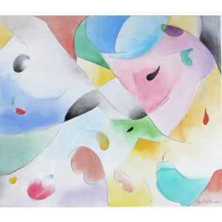 June Felter Abstract Watercolor For Sale