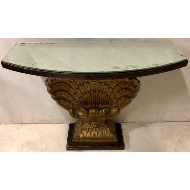 Hollywood Regency Hollywood Regency Shell Console Table Att. Grosfeld House For Sale - Image 3 of 7