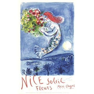 Marc Chagall Bay of Angels Signed Lithograph, 1962 For Sale