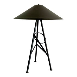 1980 Postmodern Black Metal Table Lamp For Sale
