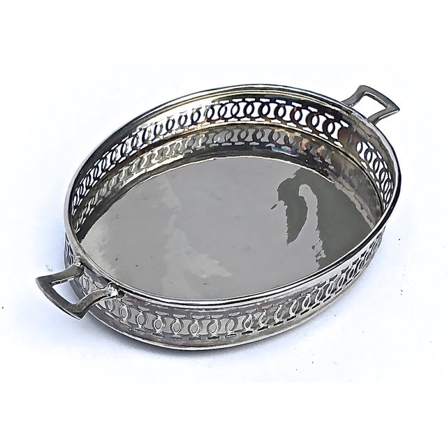 Art Deco Style Silverplated Reticulated Tray - Image 2 of 5