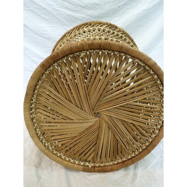 Rattan Wastebasket - Image 4 of 6