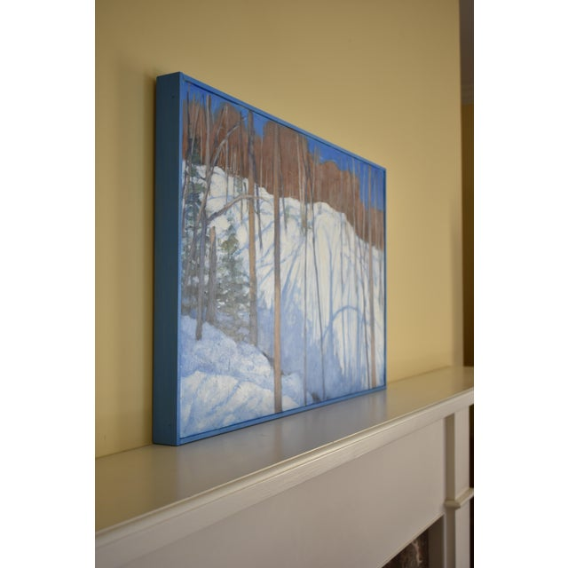 """White Stephen Remick """"Sunny Ridgeline"""" Contemporary Painting For Sale - Image 8 of 12"""