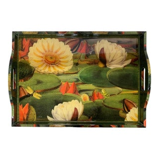 "2000s Annie Modica Large Handcrafted Tray ""Pond, Ribitt"" For Sale"