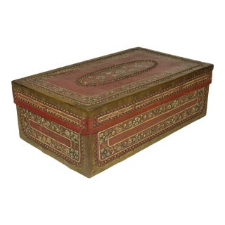 Antique Camphor Wood Box For Sale