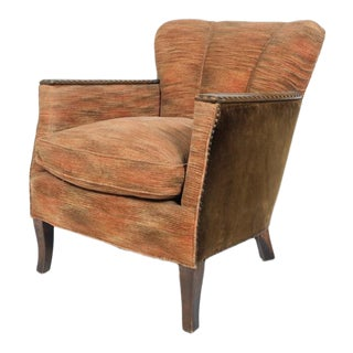 Mid-Century Barrel Back Lounge Chair For Sale